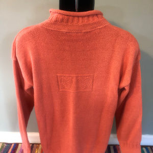 Vintage Sweaters - 80s Dragon Run Mock Turtle Neck Sweater Thick Warm